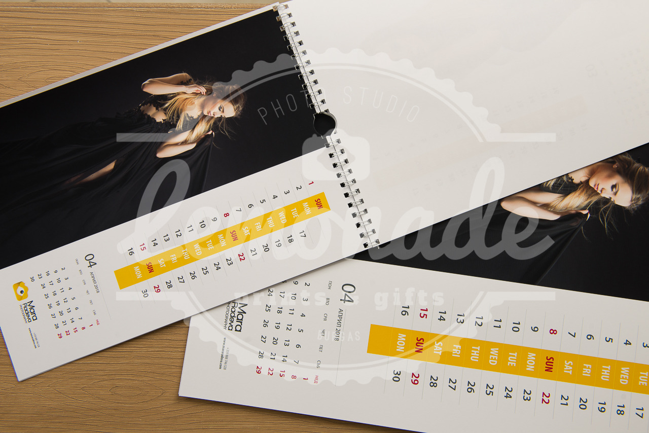 13 листов календар формат А4