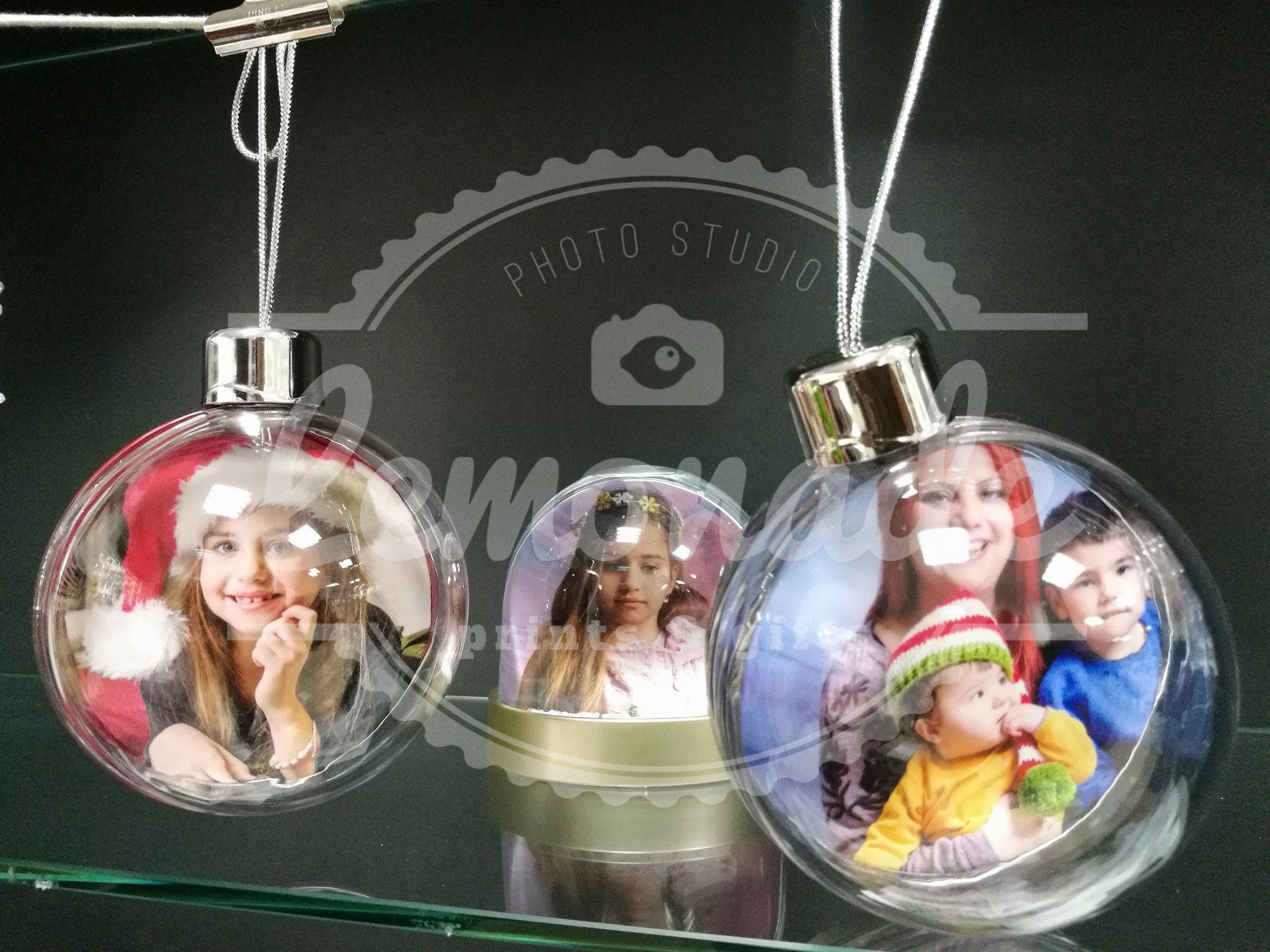 Коледна играчка прозрачна сфера