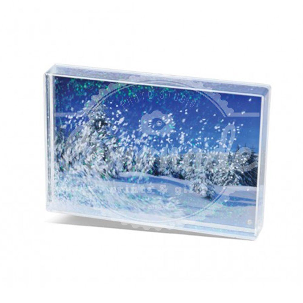 Акрилен снежен блок  персонализиран