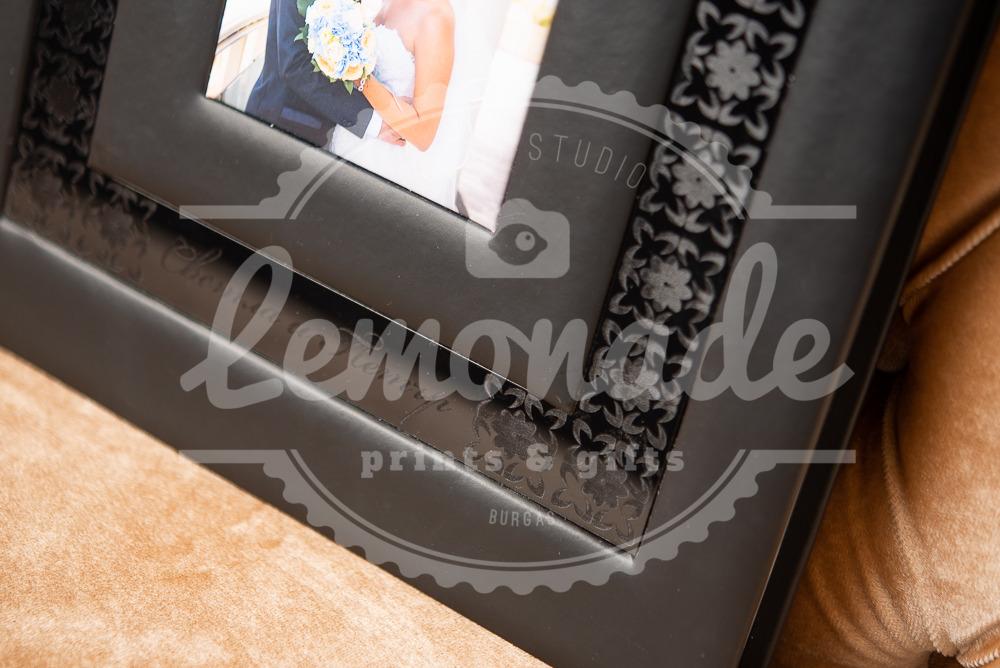Луксозна сватбена фотокнига  с кожена корица